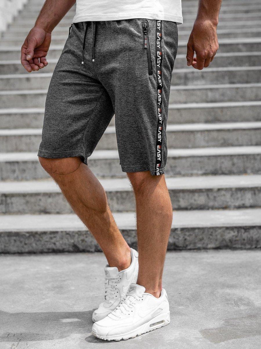 Pantaloni scurți grafit bărbați Bolf JX381 imagine