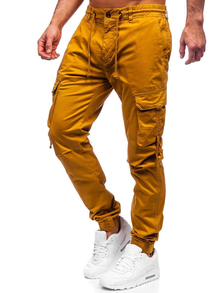 Pantaloni joggers cargo camel Bolf 8956 imagine